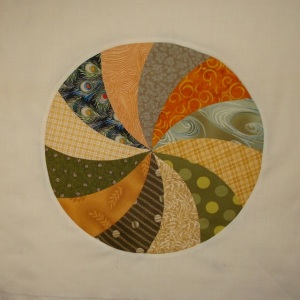 The fifth wheel (sorry I couldn't resist!) in the Big Wheels quilt.