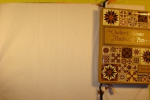 I've been using Jinny Beyer's The Qulter's Album of Patchwork Patterns as inspiration to draft my circle blocks for Big Wheels. I still want to be her when I grow up!