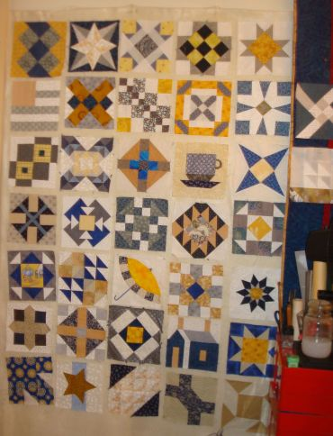 These are all the blocks I am going to make from Barbara Brackman's Grandmother's Choice blog.  I'll keep reading, but no more blocks!