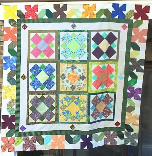 "In Full Bloom was my Lenten Challenge BoB project.  It's only 62"" square, but I've been told that that's ""big enough. Yay!  Done."